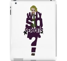 Joker from The Dark Knight Why So Serious? iPad Case/Skin