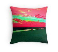 Martian Sunset over Blakeney Throw Pillow