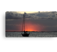On the water. Canvas Print