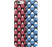 Red Forest and Blue Mountains patterns iPhone Case/Skin