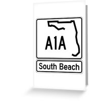 A1A - South Beach Greeting Card