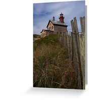 North Lighthouse Block Island Greeting Card