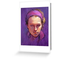 Portrait of Phoebe : Oil Painting Greeting Card
