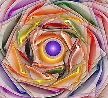 'Light Flame Abstract 258wht' by Scott Bricker