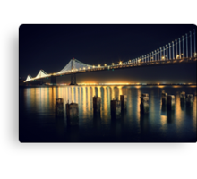 SF Bay Bridge Illuminated Canvas Print