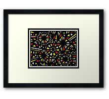 Bayona Abstract Expression Yellow Red Framed Print