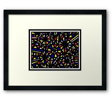 Rusche Abstract Expression Yellow Red Blue Framed Print