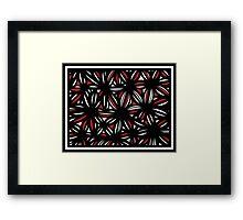 Mashni Abstract Expression Red White Black Framed Print