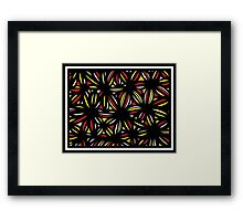 Pebbles Abstract Expression Yellow Red Black Framed Print