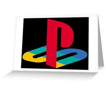 Vintage Playstation Logo Greeting Card