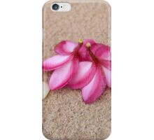 Flowers and Cockleshells on Sand iPhone Case/Skin