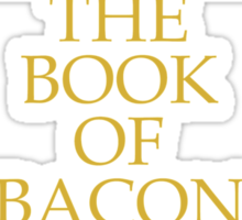 The Book of Bacon Sticker