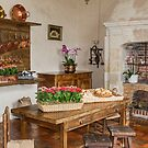 The Kitchen at the Chateau de Villandry, Brittany, France by Elaine Teague