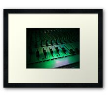 PA, mixing table Framed Print