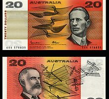 Australia $20 - 1985 by Robert Abraham
