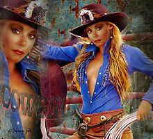 the all American Cowgirl by navybrat
