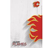 Calgary Flames Minimalist Print Photographic Print