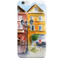 Watercolor in town iPhone Case/Skin