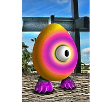 Saturated Egg Man Photographic Print