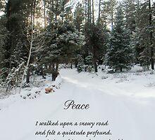 Peace Poem Winter Road by Zehda