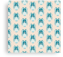 Blue owl pattern Canvas Print