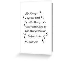 Marauders Map Mr Prongs Greeting Card