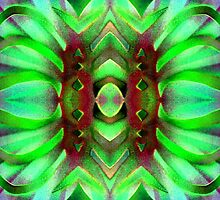 Neon Green Solarized Ribbons by BethofArt