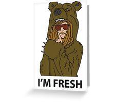 Workaholics - Blake's Bearcoat Greeting Card