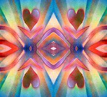 Happy Hearts Solarized Ribbons by BethofArt