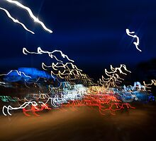 Cars driving motion night lights by Arletta Cwalina