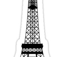 Black Eiffel Tower Sticker