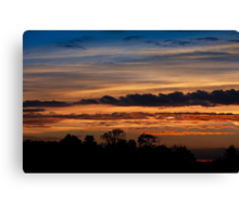 Twilight colorful sunset Canvas Print