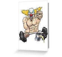 Cross fitness - Puker Greeting Card