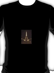 Eiffel Tower at Night in the City of Lights Paris, France T-Shirt
