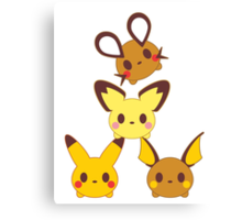 POKEFAMILLY Canvas Print