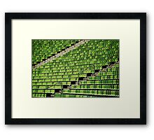 the green chair Framed Print