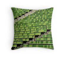 the green chair Throw Pillow