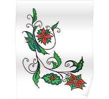 Abstract Floral Ornament 3 Poster