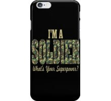 Soldier Superpower Camo iPhone Case/Skin