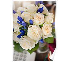 Ecru roses wedding bouquet  Poster
