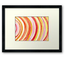 Watercolor curves Framed Print
