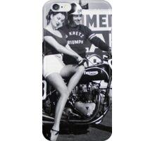 Triumph Bike with Model iPhone Case/Skin
