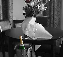 Wedding Flower and Champagne by terrebo