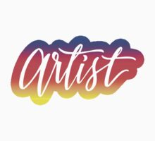 Primary Colored Ombre Script Artist by squiddyshop