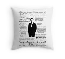Giles in his own words - black Throw Pillow