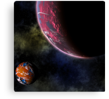 Planets in the Cosmos Canvas Print