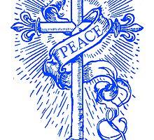 Peace Cross & Banner by Zehda