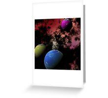 Orbiting Worlds Greeting Card