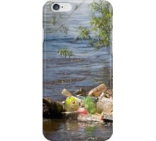 bottles damage river after flood iPhone Case/Skin