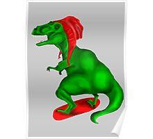 Snowboard Dinosaur Poster